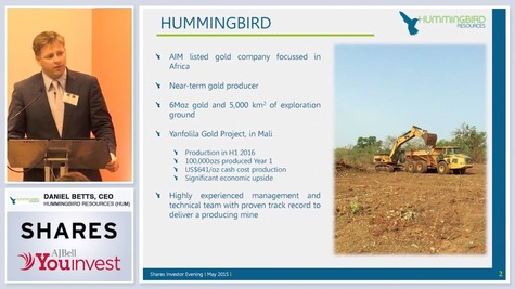Hummingbird Resources - Investor Evening
