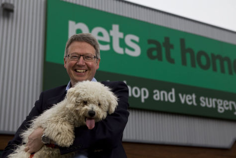 Nick Wood, CEO of Pets At Home at New Malden store, London