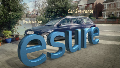 esure car and sign