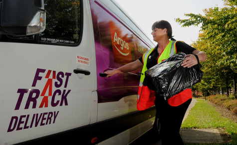 PR PHOTO. Free Editorial Use.  Argos Launch NEW Same Day Delivery Service.