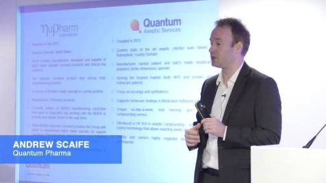 Andrew Scaife, CEO of Quantum Pharma (QP.)