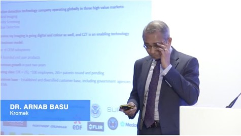 Dr. Arnab Basu, CEO of Kromek (KMK)