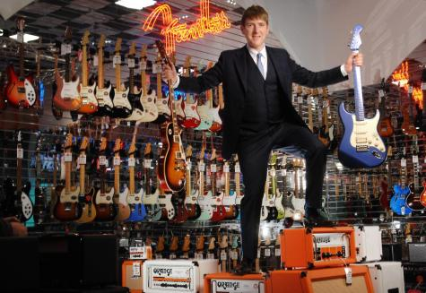 GEAR4MUSIC.COM: FOUNDER AND CEO ANDREW WASS IN THE SHOWROOM'S OF THEIR YORK HEADQUARTERS.©RUSSELL SACH - 0771 882 6138