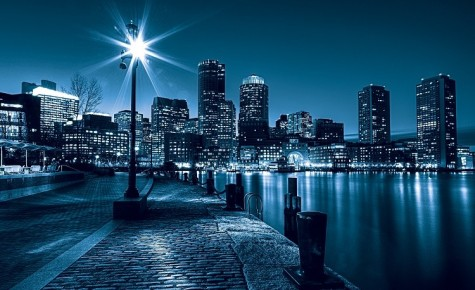City scape night blue