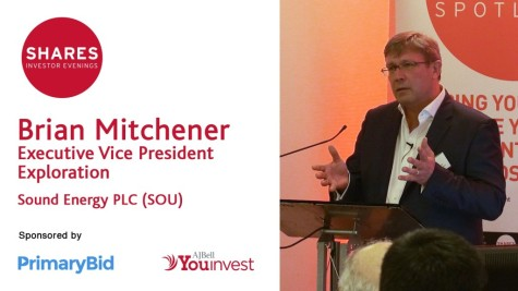 Brian Mitchener, Executive Vice President Exploration of Sound Energy PLC (SOU)