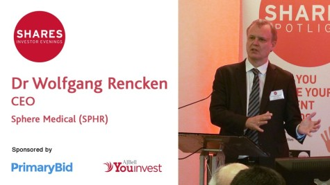 Dr Wolfgang Rencken, CEO of Sphere Medical (SPHR)