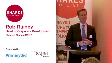 Rob Rainey, Head of Corporate Development at Midatech Pharma (MTPH)