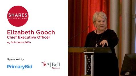 Elizabeth Gooch, MBE, CEO of eg solutions (EGS)