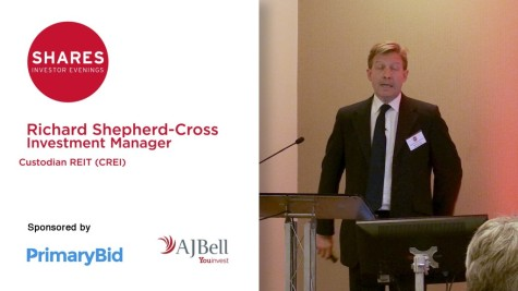 Richard Shepherd-Cross, Investment Manager of Custodian REIT (CREI)