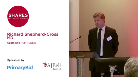 Richard Shepherd-Cross, MD of Custodian REIT (CREI)