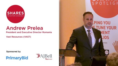 Andrew Prelea, President and Executive Director Romania at Vast Resources (VAST)