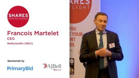 Francois Martelet, CEO of NetScientific (NSCI)