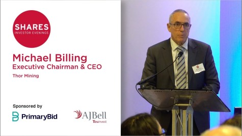 Michael Billing, Executive Chairman & CEO - Thor Mining (THR)
