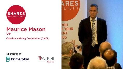 Maurice Mason, VP - Caledonia Mining Corporation (CMCL)