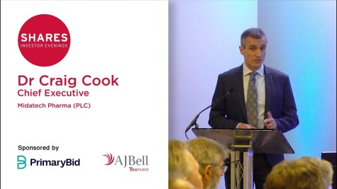 Dr Craig Cook, Chief Executive Officer - Midatech Pharma (MTPH)