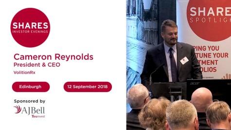 Cameron Reynolds, President & CEO - VolitionRx
