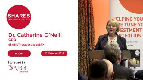 Dr. Catherine O'Neill, CEO - SkinBioTherapeutics (SBTX)
