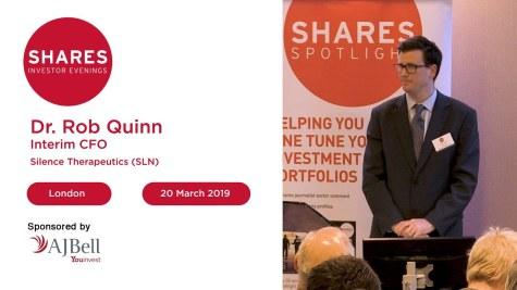 Silence Therapeutics (SLN) - Dr. Rob Quinn, Interim CFO